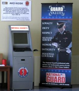 ตัวอย่างตู้ Kiosk ของ US Army (ภาพจาก http://www.army.mil)
